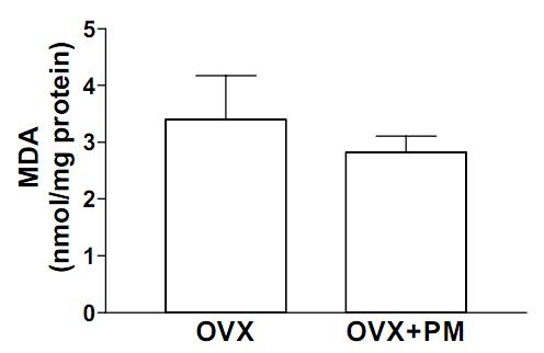 Effect of Pueraria Mirifica treatment on serum lipid peroxidation
